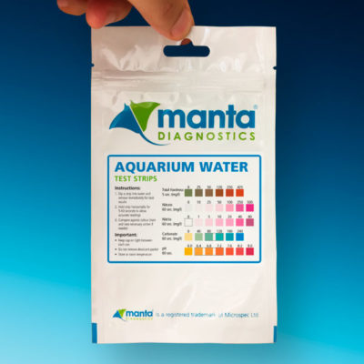 Aquarium Water test strips from Manta Diagnostics