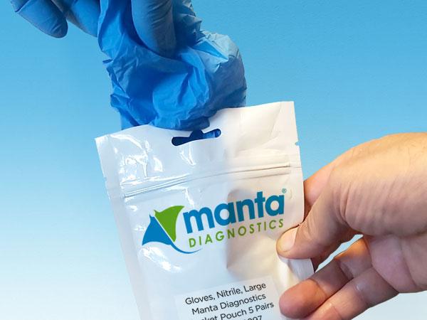 Manta Diagnostics Pocket Pouch - Nitrile Gloves